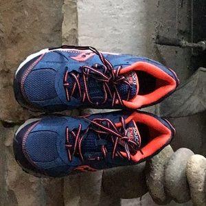 Women's Saucony sneakers royal blue/orange/black